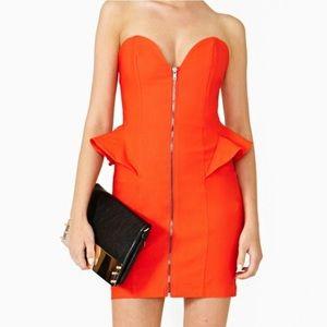 Nasty Gal Heartbreaker Peplum Zip Front Dress